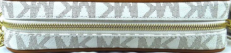 MICHAEL MICHAEL KORS JET SET LARGE EW Vanilla Flora perforated Crossbody Bag $114.98