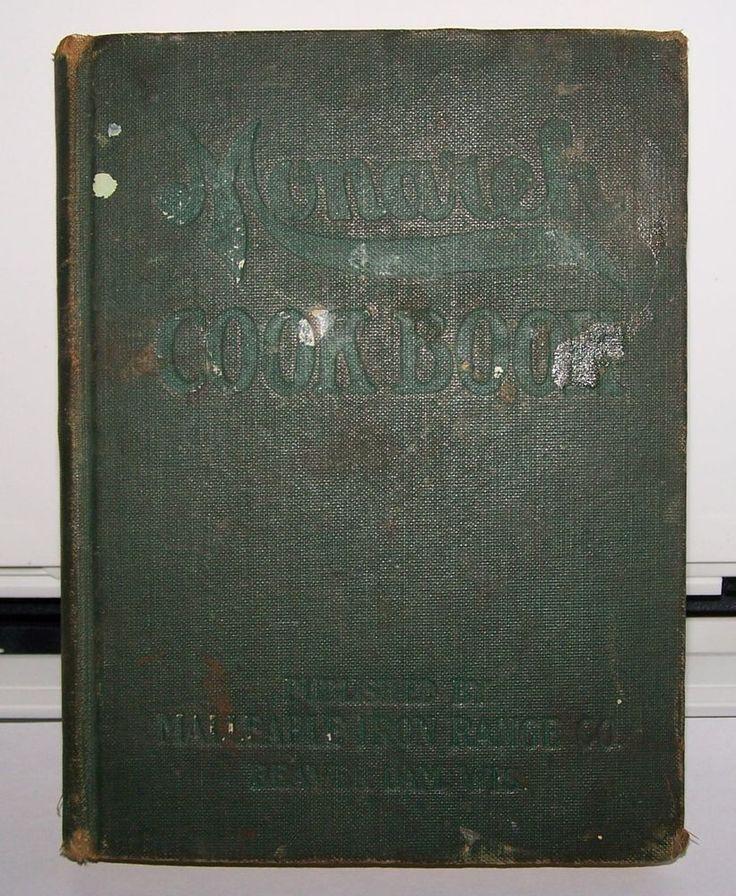 MONARCH 1909 COOKBOOK MALLEABLE IRON GAS COAL RANGE CATALOG RECIPES H M THOMSON