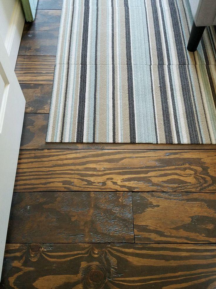 Remodelando La Casa, Wide Plank Plywood Floors Room Entrance