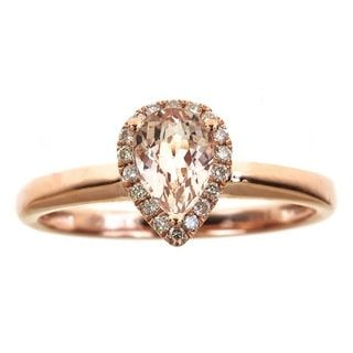 Shop for Anika and August 14k Rose Gold Pear-cut Morganite 1/8ct TDW Diamond Ring (G-H, I1-I2) and more for everyday discount prices at Overstock.com - Your Online Jewelry Store!