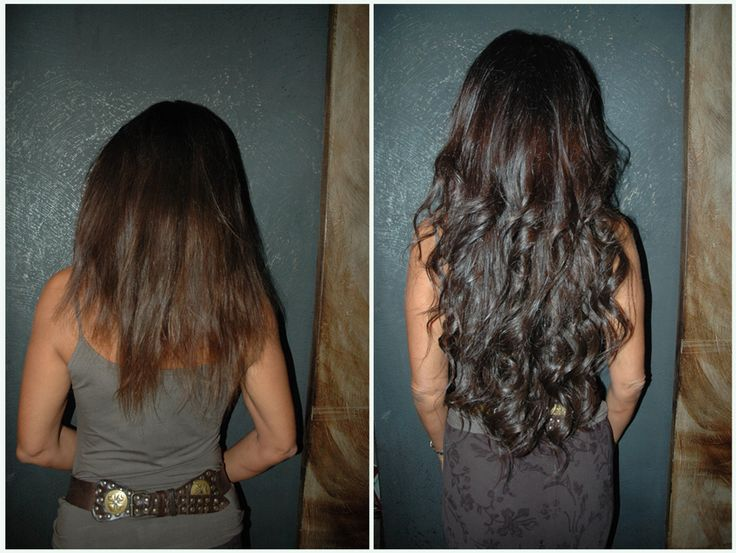 great hair extensions before after by hairdressing