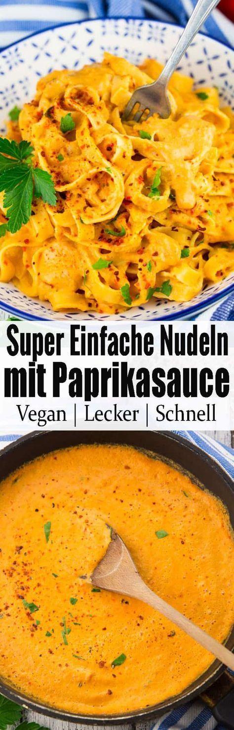 Nudeln mit Paprikasoße – Vegan & Veggie