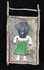 "JAMES A. ""BUDDY"" SNIPES, SOUTHERN VISIONARY OUTSIDER ART ON TIN ARTIST FRAMED"