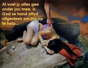God se hand help jou op