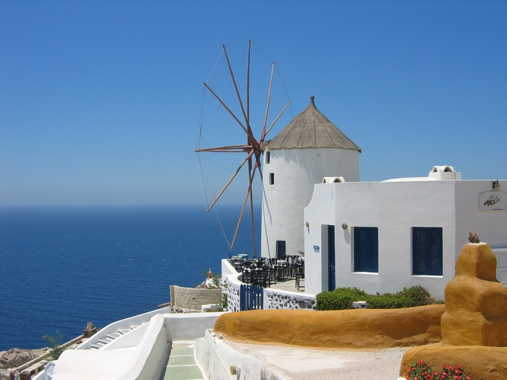 Santorini- still one of the most beautiful places I've ever been.  Photo by me.