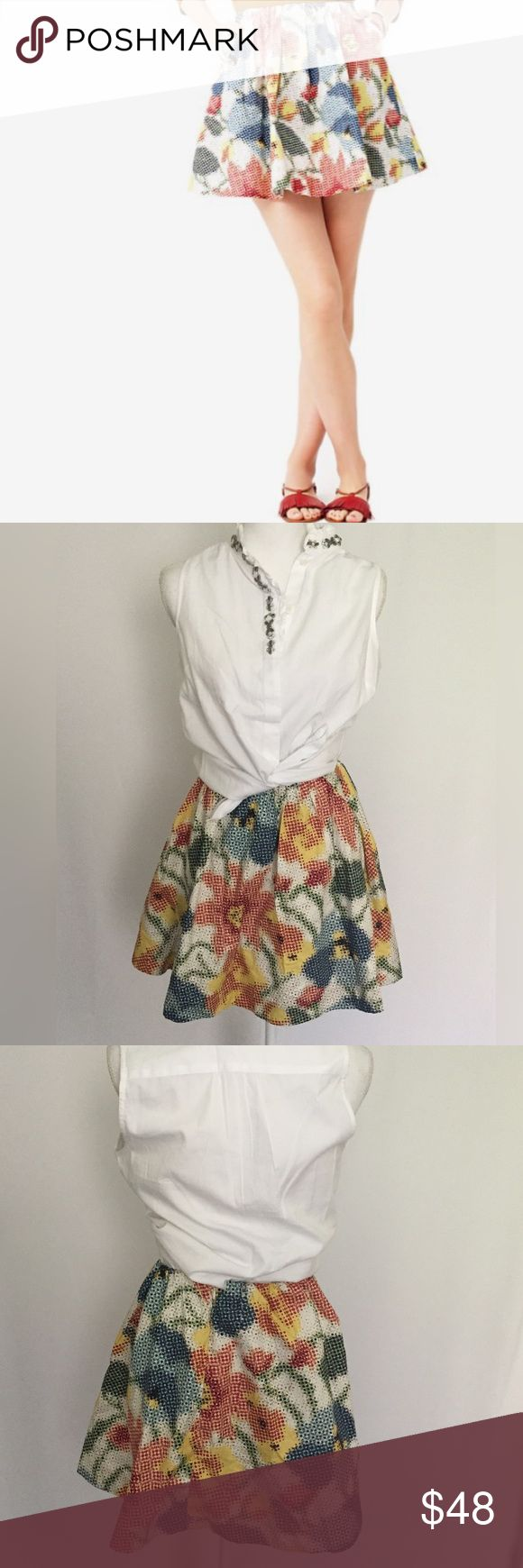 Kate Spate | pure sugar pattern skirt Kate spade | pure sugar | pattern circle skirt | size 0| side pockets | 100% cotton | lay flat measurements | length 12.5,  waist 13.5 | excellent condition kate spade Skirts Mini