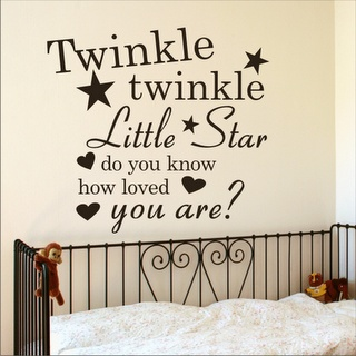 Saying above Bed: Wall, Wall Decals, Child Rooms, Wall Quotes, Wall Words, Twinkle Twinkle, Wall Stickers, Baby Rooms, Bedrooms Wall
