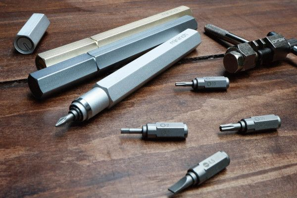 The Tool Pen is a lightweight and portable alternative to a screwdriver set