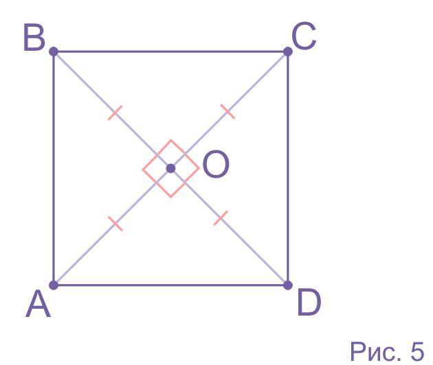 Деление квадрата диагоналями