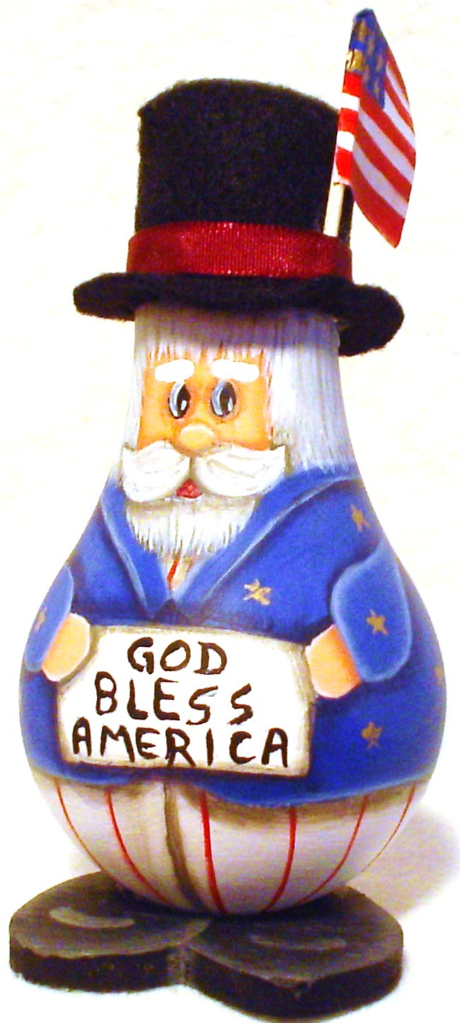 lightbulb crafts | ... Hand Painted: Uncle Sam Painted Light Bulb God Bless America Sign