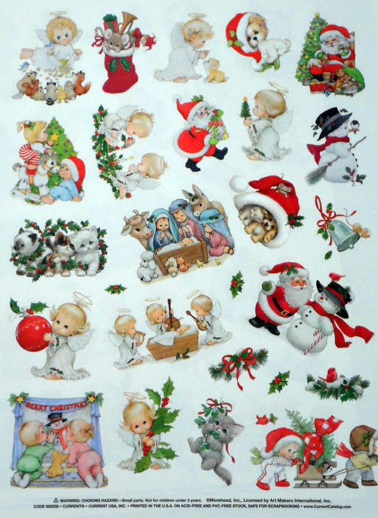 106 best christmas stickers images on pinterest for Stickers infantiles