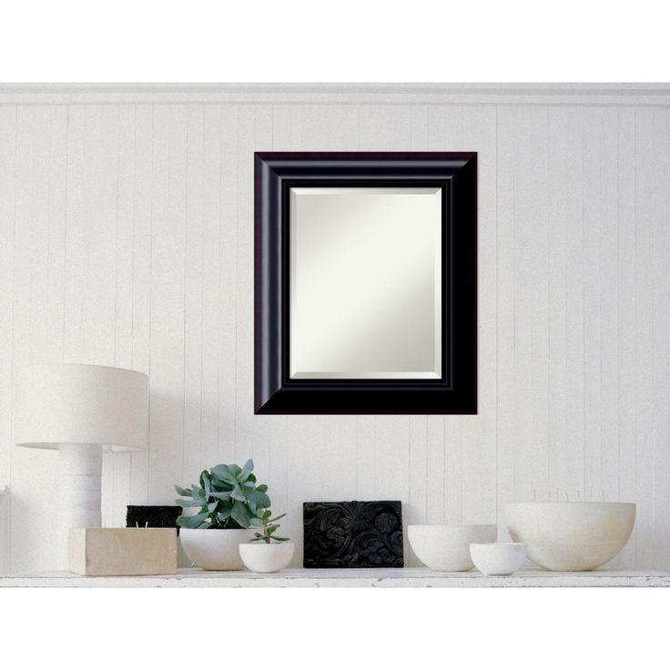 Dark Chestnut Wood 23 in. W x 27 in. H Contemporary Framed Mirror