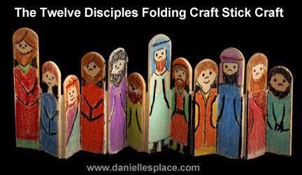 The Disciples Folding Craft Stick Bible Craft for Sunday School  -  from www.daniellesplace.com