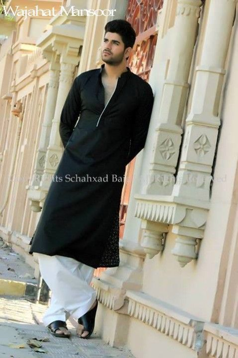 Wajahat-Mansoor-Latest-Summer-Eid-Kurta-Pajama-Salwar-Kameez-Collection-2014