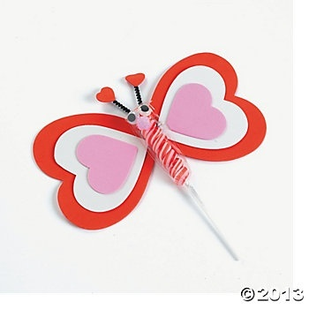 Valentine Twisty Pop Butterfly  cute idea!