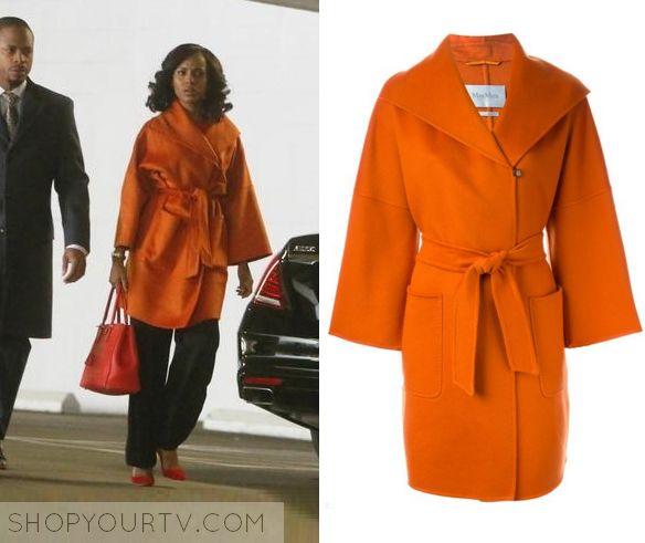 ShopYourTv:Scandal: Season 5 Episode 14 Olivia's Orange Coat - ShopYourTv