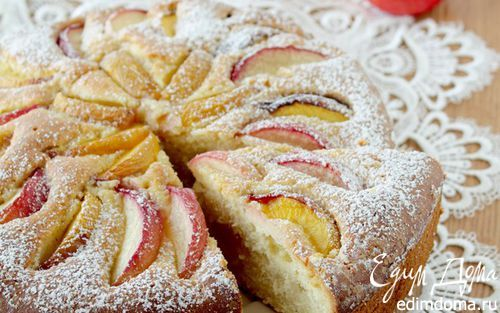 Рецепт – Пирог с нектаринами и кукурузной мукой