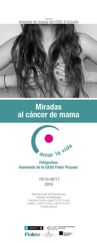 Del 19/10/2016 hasta el 6/11/2016. Muestra que recoge una selección de fotografías hechas por el alumnado del EASD Pablo Picasso dedicado al cáncer de mama.