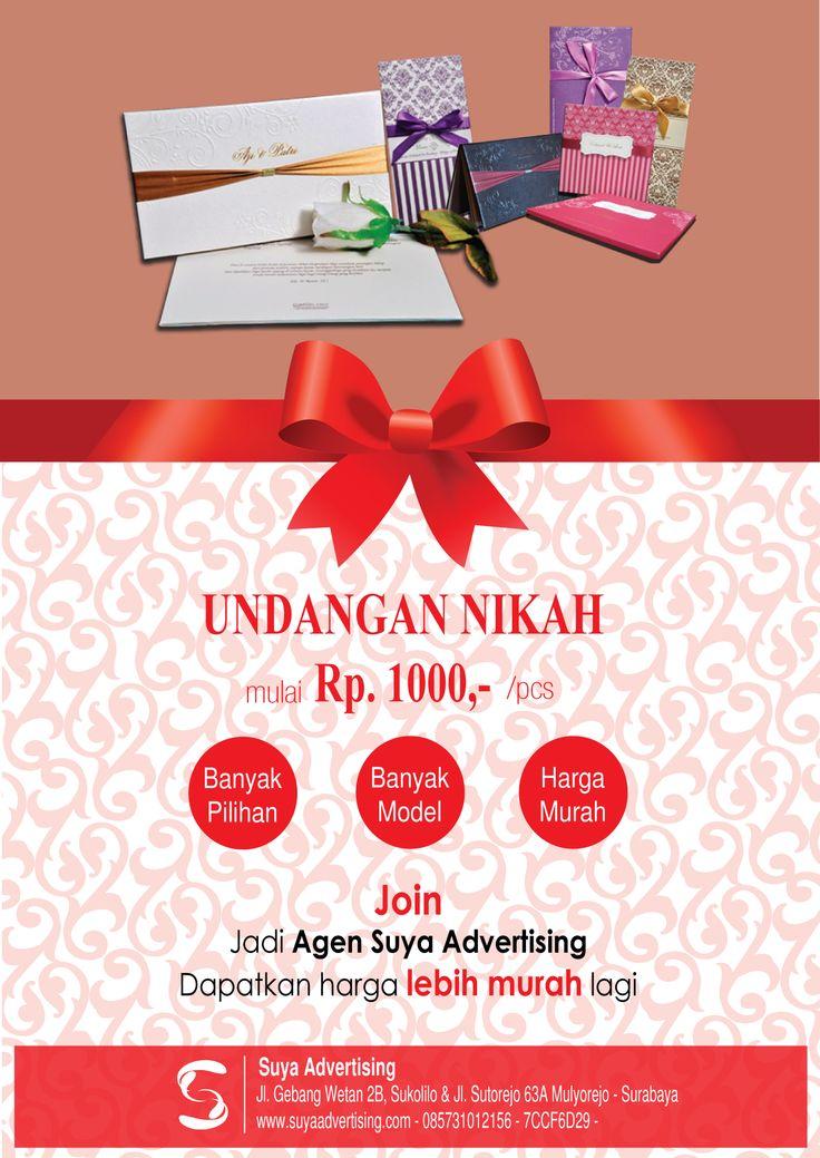 "Design Poster Promotion Product ""Undangan Nikah"" Suya Advertising.."