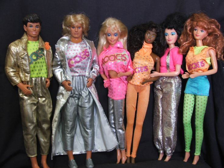 1986 Barbie and the Rockers!  Had most of these.  Loved Ken's outfit, lol!  Total 80s fashion, ha ha!