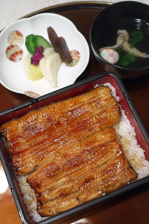 Japanese Unaju, Grilled Eel on Rice, Tokyo うな重