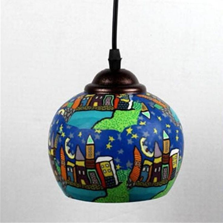 42.80$  Buy here - http://alipqp.worldwells.pw/go.php?t=32269827988 - New Creative Novelty Chinese Ceramic E27 Single Head Pendant Light For Dining Room Bar Restaurant Decoration Lamp Dy-1358 42.80$