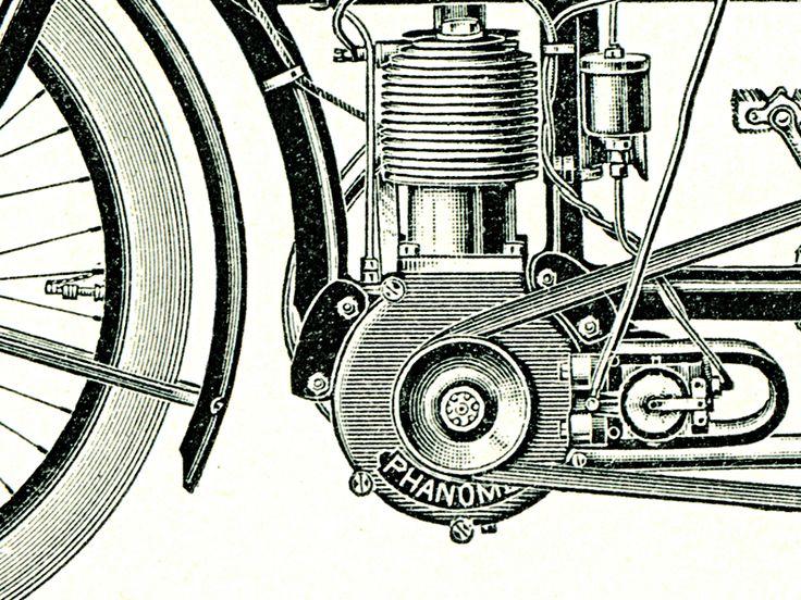 Detail obrazu Historická motorová kola