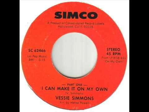 Vessie Simmons I Can Make It On My Own - YouTube