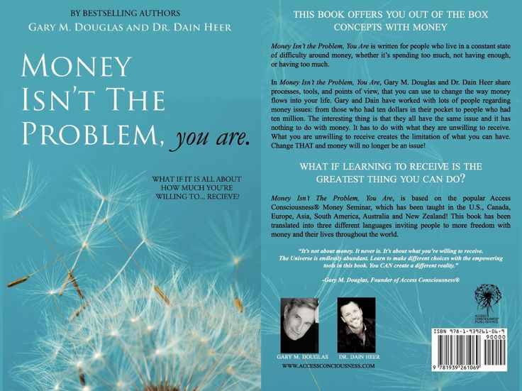 """#garydouglas The book """"Money Isn't the Problem, You Are"""" is about money issues written by Gary Douglas and Dain Heer."""