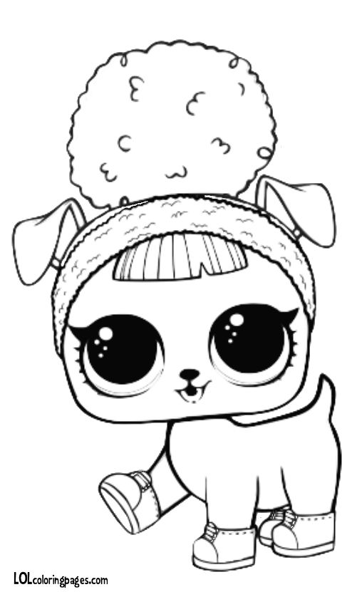 Pet Hoops D O G G Coloring Page L O L Dolls Kids