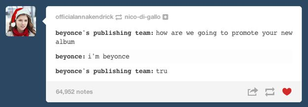 This flawless recap of Beyoncé's marketing strategy. | The Best Of The Internet's Reaction To Beyoncé's New Album