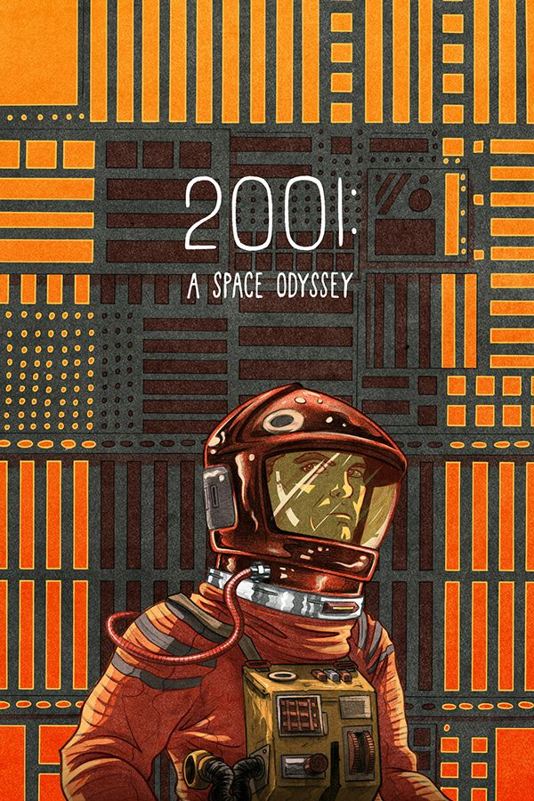 2001: A Space Odyssey - movie poster - Max Temescu