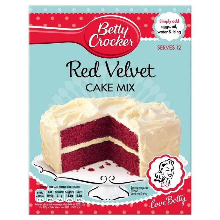 Betty Crocker Red Velvet Mix Deleitate Y Disenos De Unas