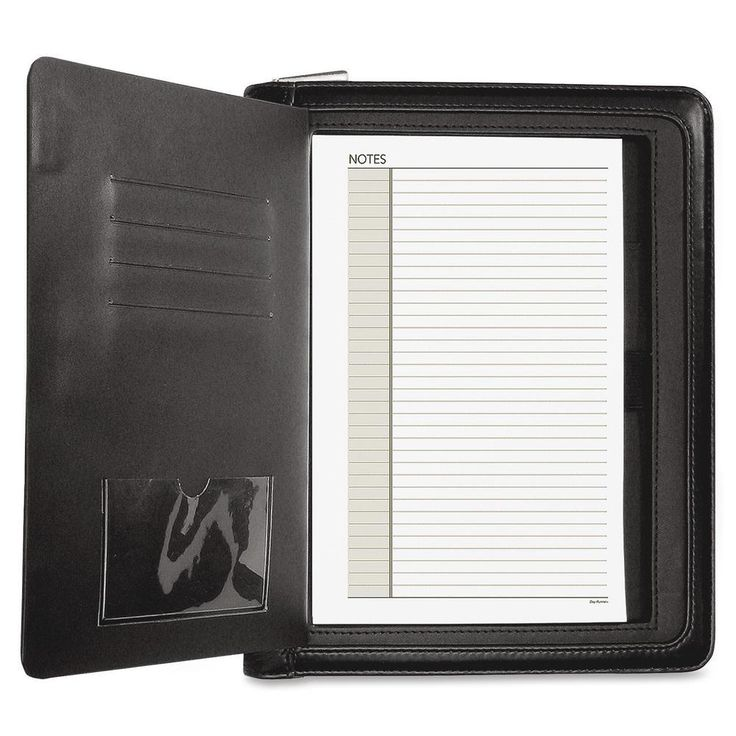 Day Runner Windsor Quick View Personal Organizer Black New #DayRunner