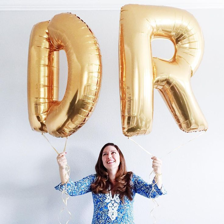 When your bestie successfully defends her dissertation, giant gold DR balloons are a necessity!  #phdchic #notthatkindofdoctor #phd
