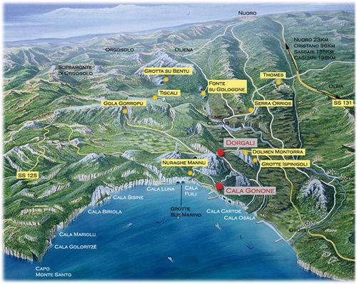 Cartina, Dorgali-Cala Gonone