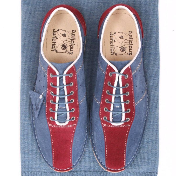Delicious Junction Exclusive Mod Retro Bowling Shoe Teal / Bordo Suede