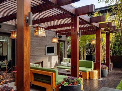 28 best hogar images on pinterest chile santiago and for Open pergola designs