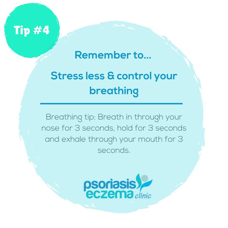 Tip #4 Remember to stress less and control your breathing.