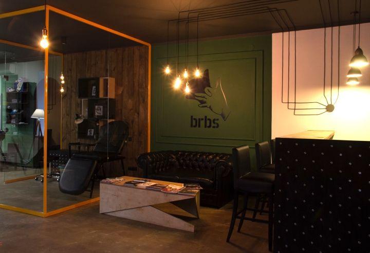 Barboss Barbershop and tattoo salon by Workshop Dmitriy Grynevich, Kiev – Ukraine » Retail Design Blog