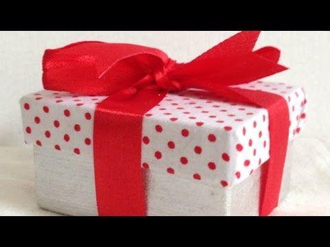 TUTORIAL Rivestire una scatola con tessuto - YouTube