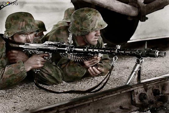 MG. 34 crew - 1st.SS. LAH - Mariupol, Ukraine - Oct.'41
