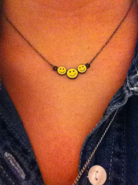 327 best smiley face images on pinterest smileys smiley and happy vtg 90s smiley face necklace aloadofball Image collections