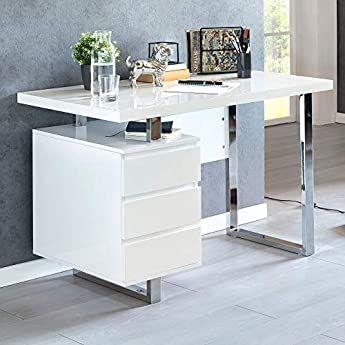 Schreibtisch Weiß Holz 2021