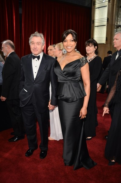 Red Carpet Moments at The Oscars 2013 - Robert De Niro and Grace Hightower / Photo by George Pimentel
