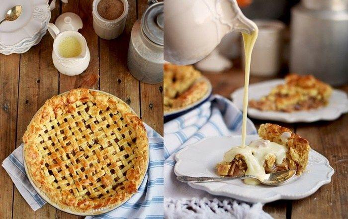 Apple Pie mit knuspriger Gitterdecke & Vanillesauce