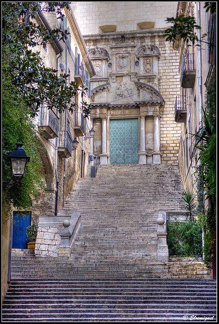 """Girona, pujada de Sant Domènec ( surt a la pelicula de """"El Perfume"""")"""