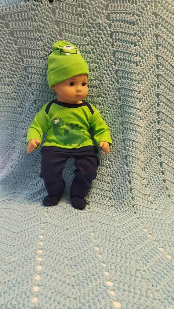 Baby Doll Clothes to fit 15 inch baby doll BOY Big Green