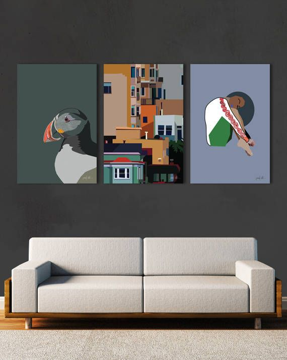 """San Francisco art City art print Architecture print Colorful USE THE CODE """"PINTEREST"""" TO RECEIVE 30% OFF!"""