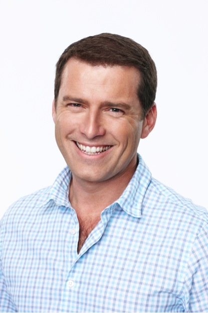 TODAY co-host Karl Stefanovic. He's hilarious! Makes me laugh in morning.